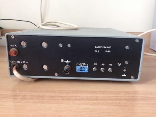 Электрохимический детектор БЛОК 5.184.007 задняя панель